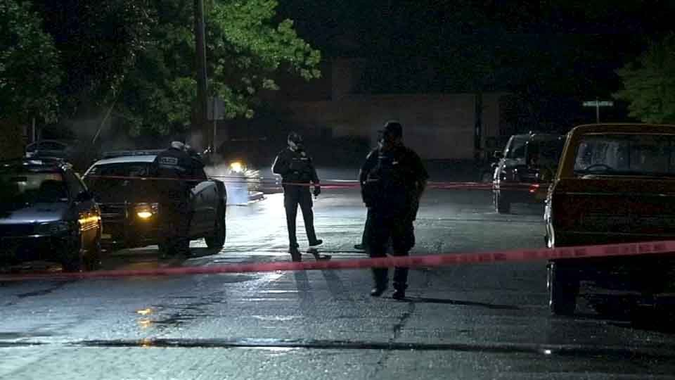 File image from May 2015 of deadly shooting in Gresham. The same home was hit by gunfire early Friday morning. (KPTV)