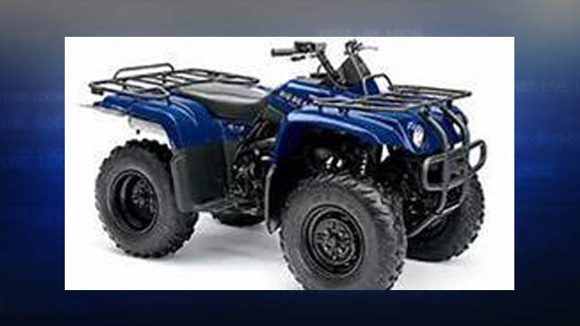 Similar ATV to the one stolen at Byrom Elementary School in Tualatin. (Image: Tualatin PD)
