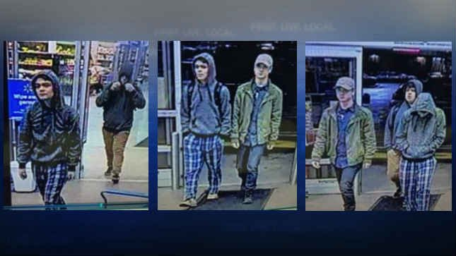 Surveillance images of the three suspects. (Photo: Battle Ground Police Department)