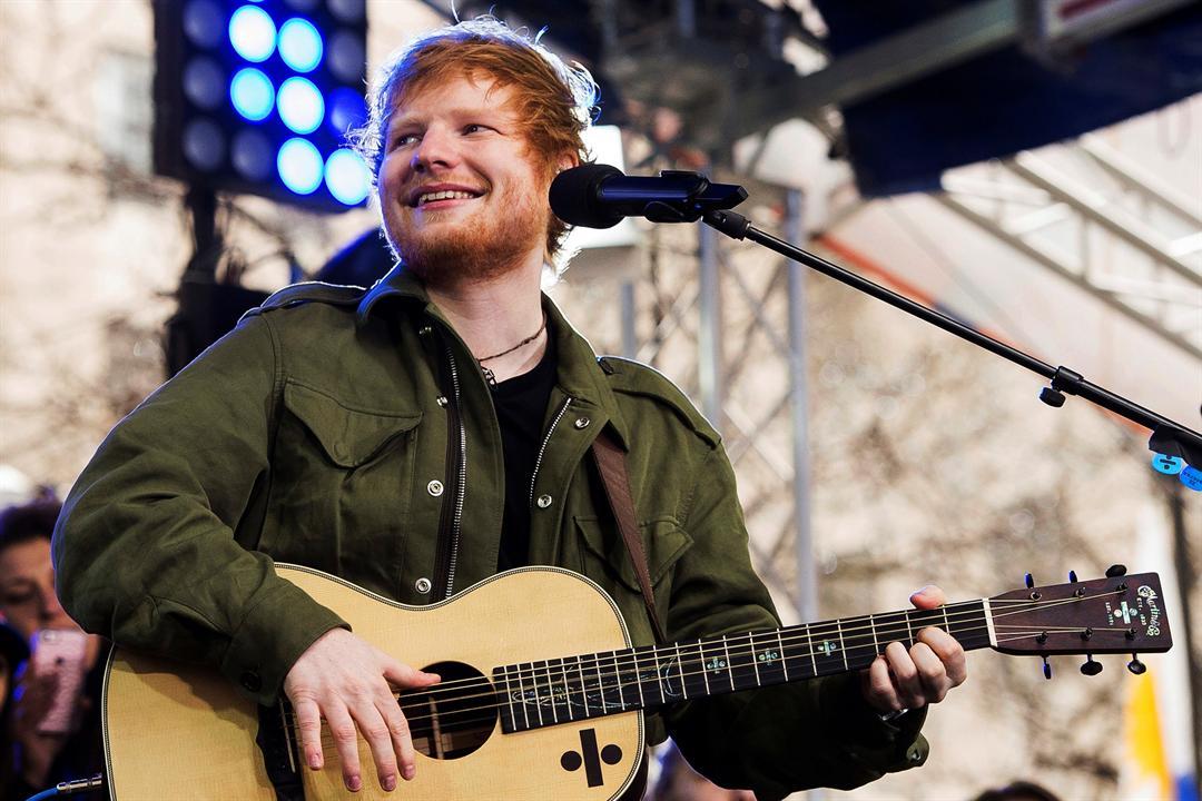 Ed Sheeran performing March 8, 2017. AP image.