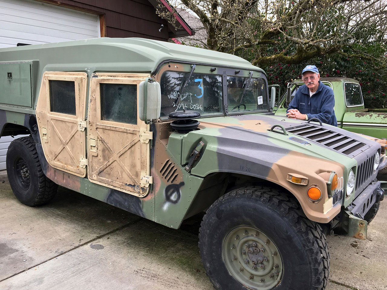 Oregon could be the first state to allow street-use of retired military Humvees should state lawmakers approve a bill that was proposed at the request of Stayton Mayor Hank Porter, who wants to tow war veterans in  parades. (AP Photo/Kristena Hansen)