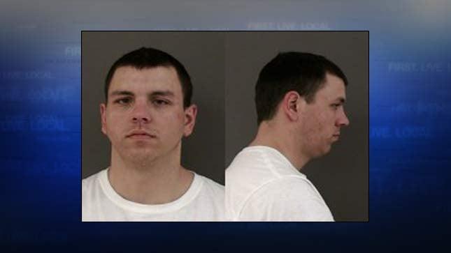 Aaron Heyer, jail booking photo
