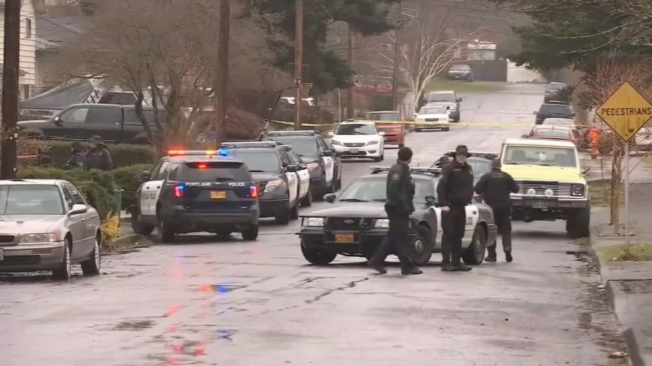 Scene of deadly police shooting of Quanice Hayes on Feb. 9. (KPTV)