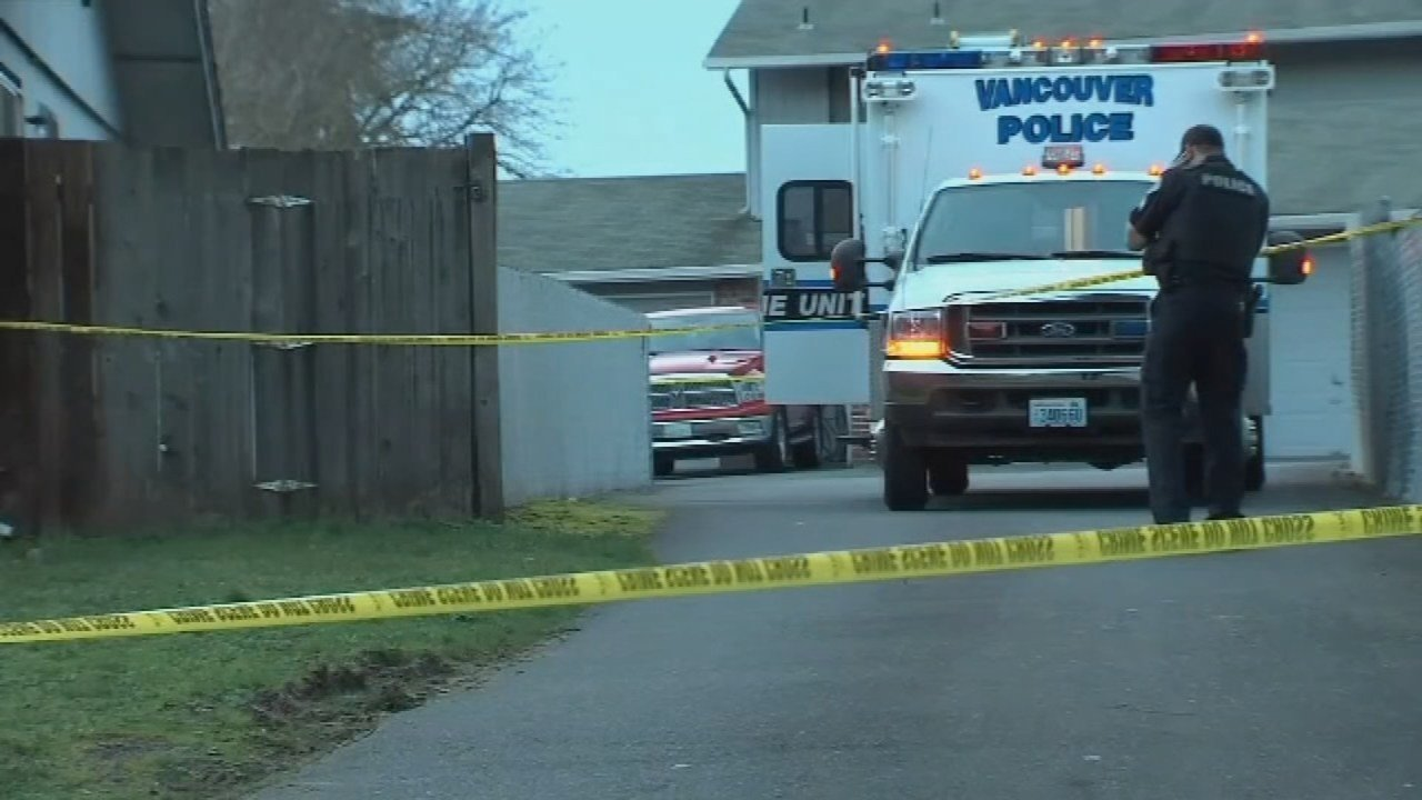 Vancouver double homicide scene on March 19 (KPTV)