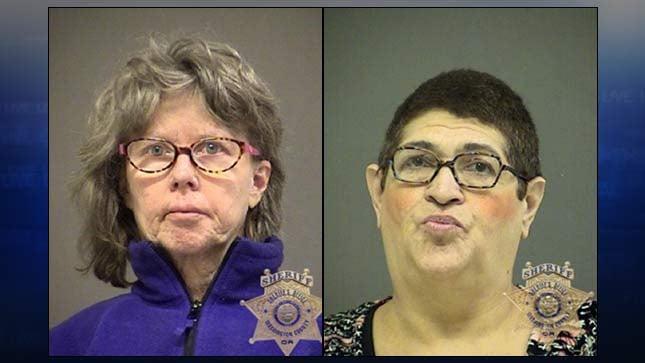 Celia Schwab, Maria Meisner, jail booking photos