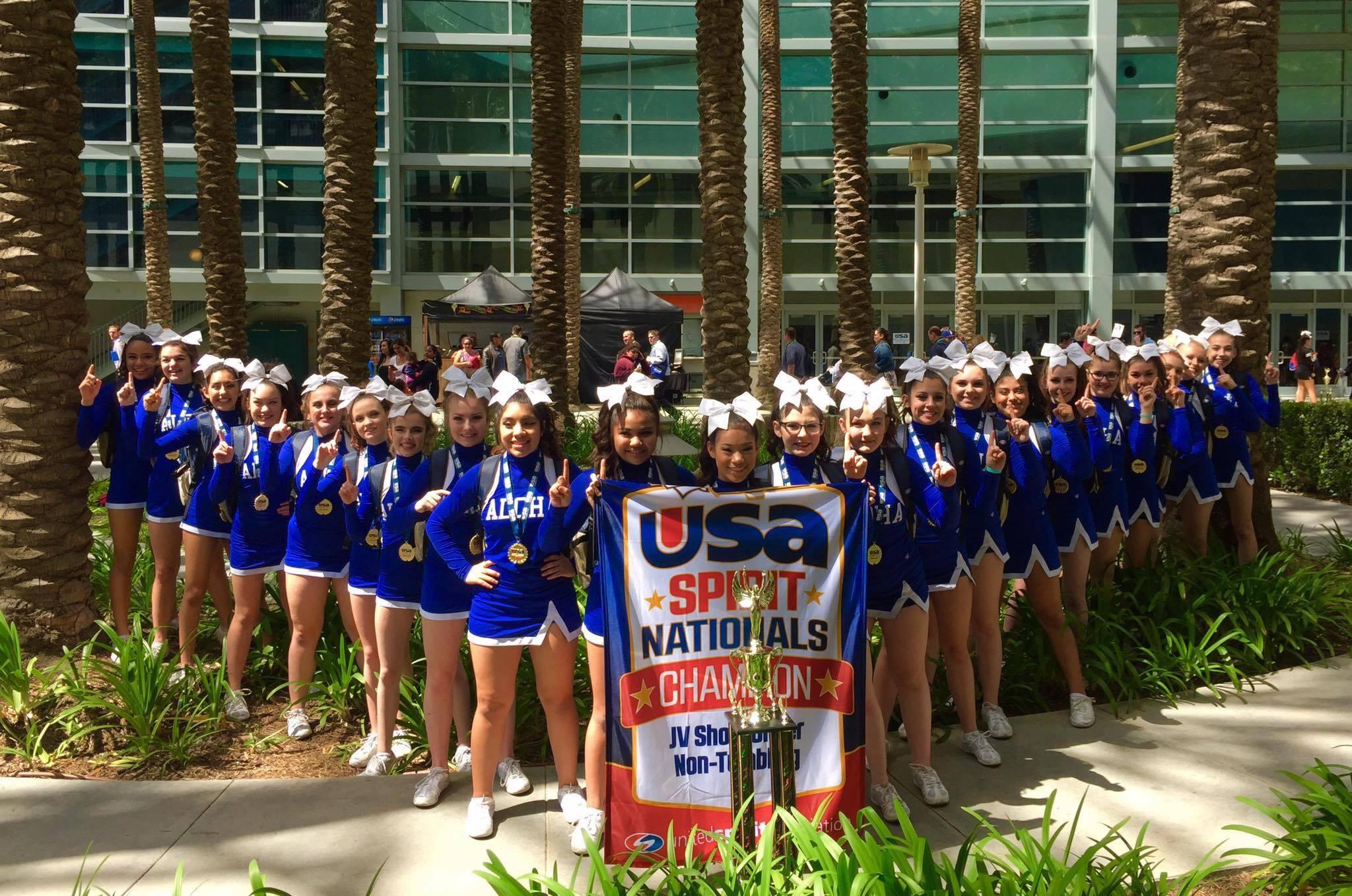 Aloha High School cheerleaders, courtesy Leah Taylor