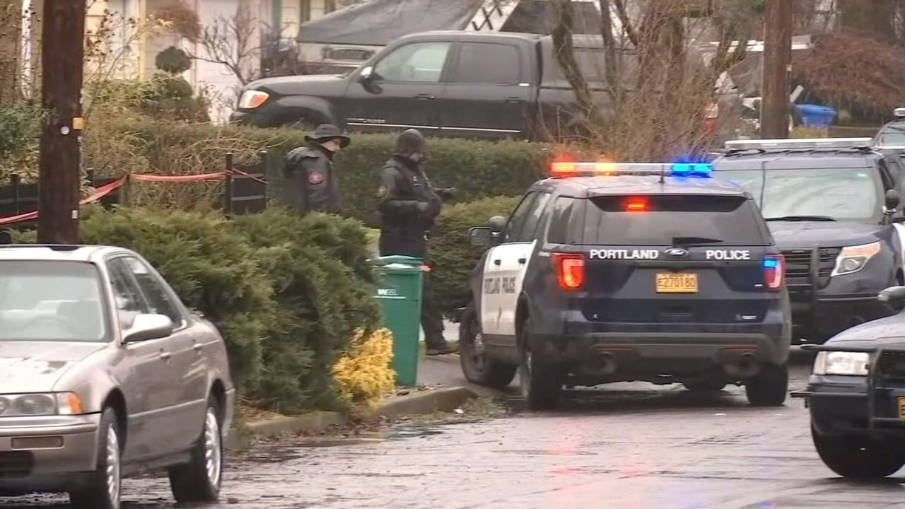 Deadly officer-involved shooting scene in northeast Portland in February. (KPTV file image)
