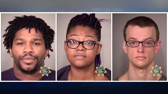 Jail booking photos: Hollis McClure, Adebisi Okuneye, Damion Feller.