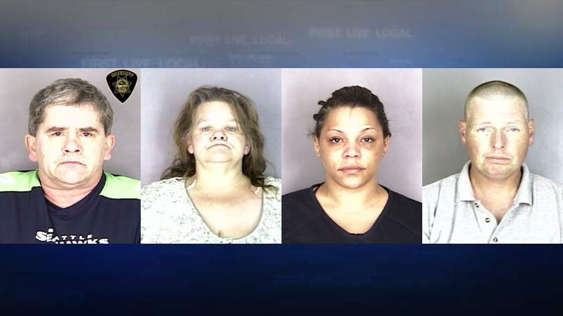 Jail booking photos: Randall Lee Lovellette, Frances Elizabeth Miller, Marissa Danae Williams, Jay Lee Wilson