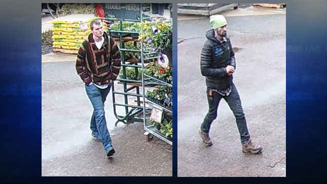 Surveillance image of the two suspects (Courtesy: Oregon City Police Department)