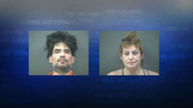 Robert John Flores and Sondra Colleen Wallace, jail booking photos (Courtesy: Lincoln County Sheriff's Office)