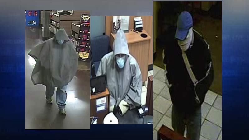Bandaged bandit bank robber (Surveillance images: FBI)