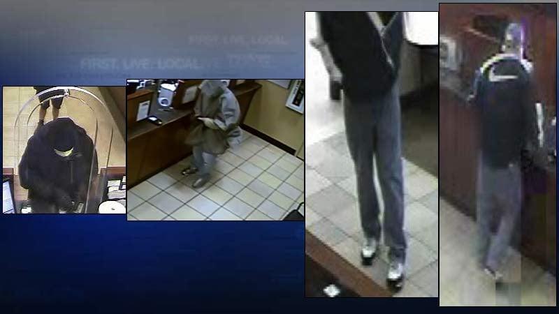 Bandaged bandit bank robber (Surveillance images: FBI)