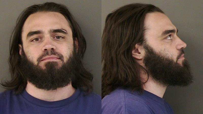 Brandon Beckner, jail booking photo