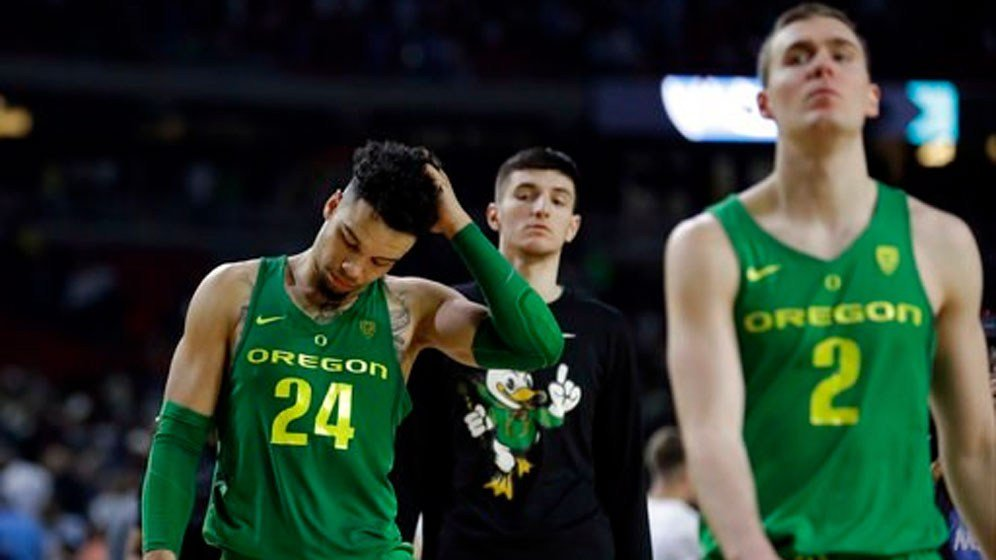 (AP Photo/David J. Phillip). Oregon's Dillon Brooks (24) looks down as he walks off the court after the semifinals of the Final Four NCAA college basketball tournament against North Carolina, Saturday, April 1, 2017, in Glendale, Ariz.