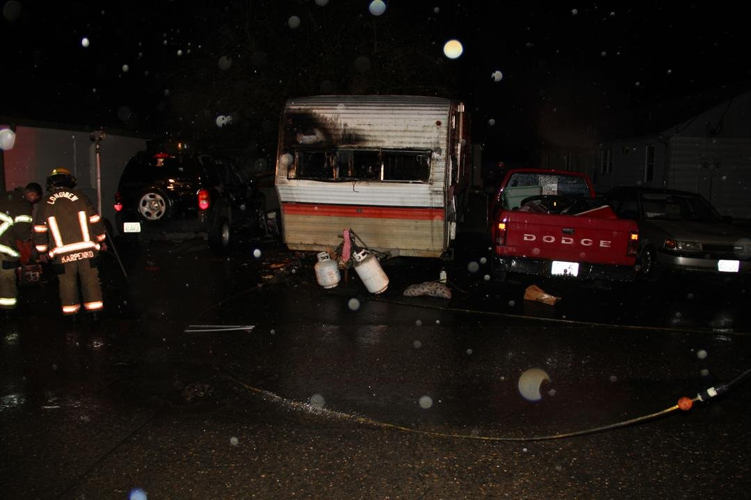 Firefighters on scene, courtesy Longview Police & Fire.