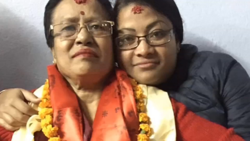 Keshari and her daughter Sunita. (Photo: Tamrakar family)