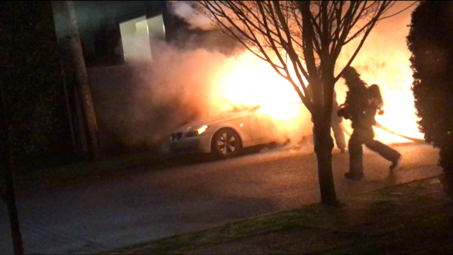 An image from the video captured by a neighbor Monday morning. (KPTV)