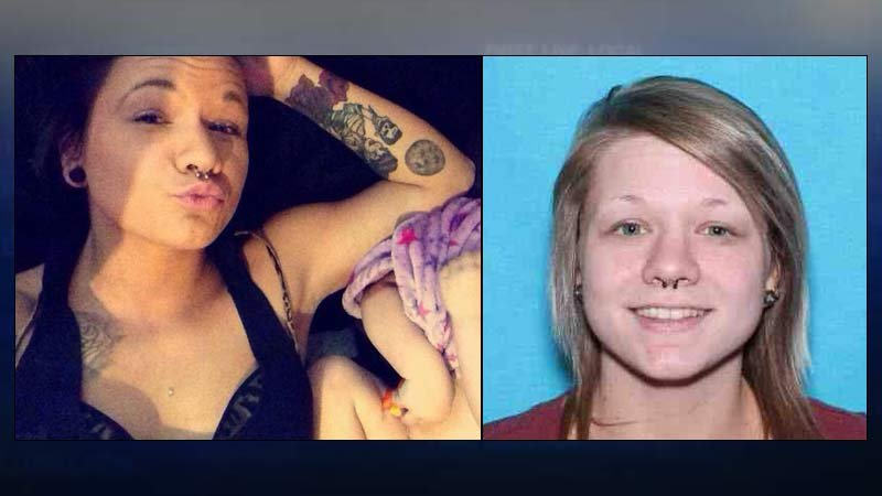 Person of interest sought by police in connection with deadly Highway 22 crash, Michala Ann Brown. (Photos released by Oregon State Police)