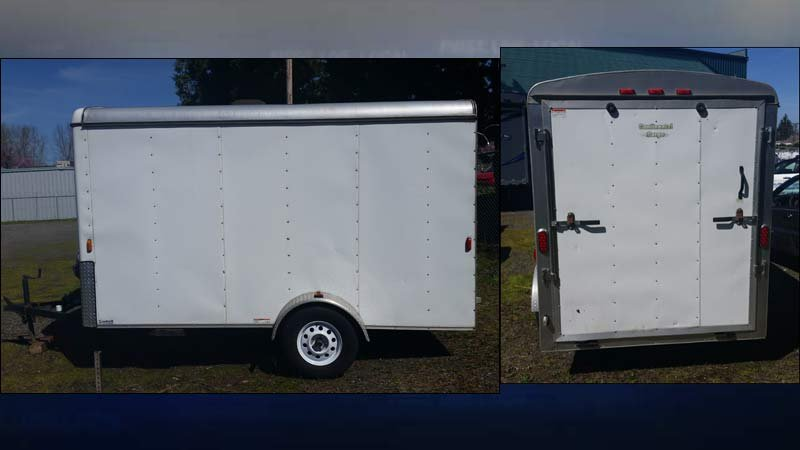 Stolen trailer (Photos: Gresham PD)