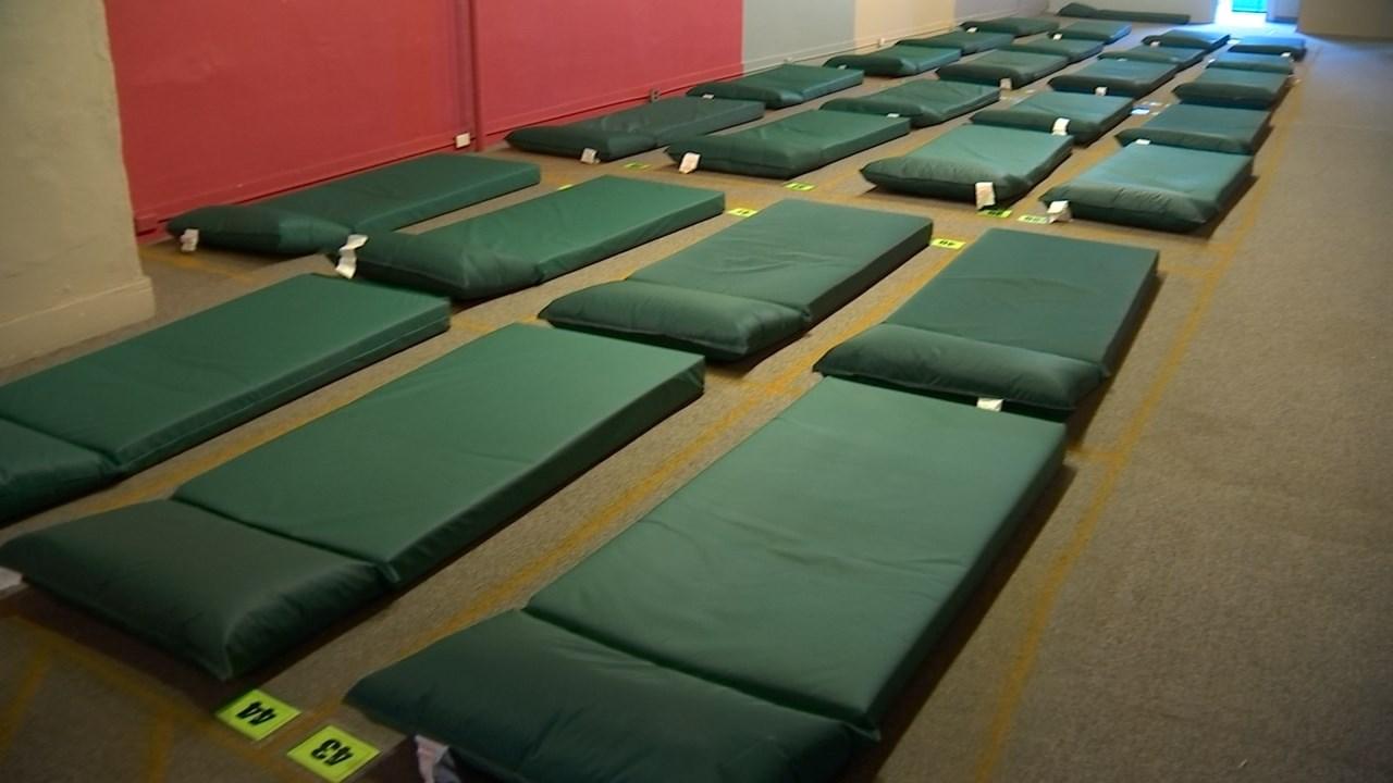 Temporary Homeless Shelter Opens In Shleifer Furniture
