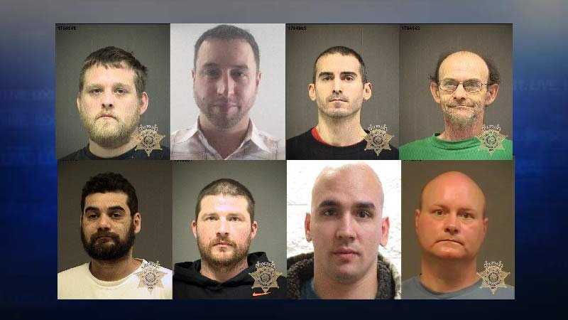 Jail booking photos of suspects accused of failing to report as sex offenders in Washington County (Jail booking photos provided by Washington County Sheriff's Office)