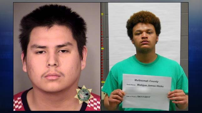 Booking photos of Kole Jones and Malique Kennerly-Hicks