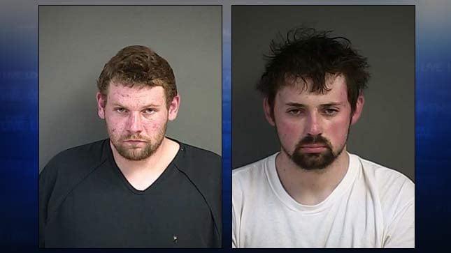 Grant Palmer, Brandon Shinall, jail booking photos