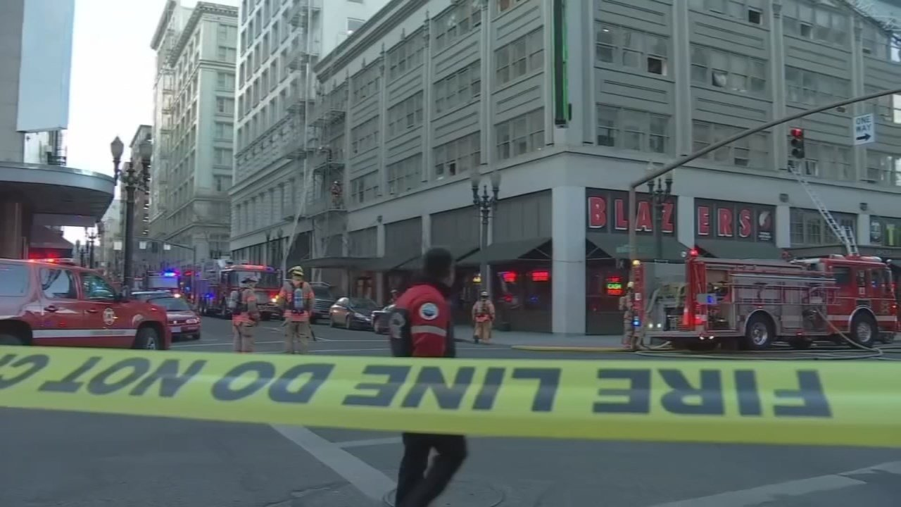 Fire at Hotel Alder in downtown Portland in January. (KPTV)