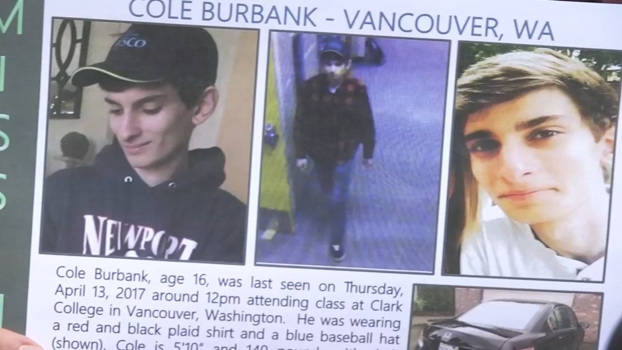Cole Burbank who was last seen on April 13. (KPTV)