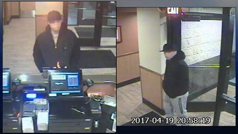 Surveillance images of suspect accused of setting man on fire at Denny's restaurant. (Images released by Clackamas County Sheriff's Office)