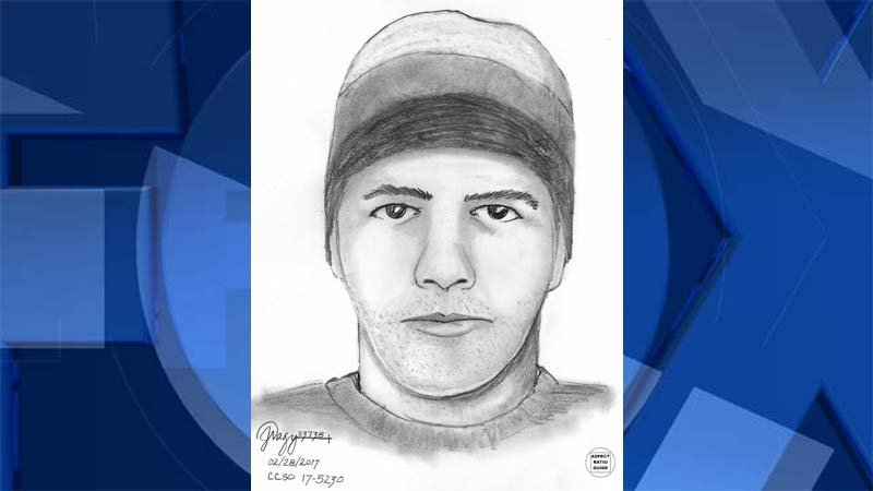 Sketch of wanted sexual assault suspect (Image: Clackamas County Sheriff's Office)