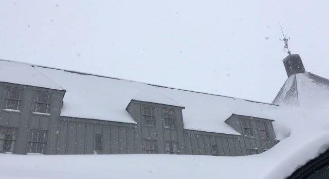 The snow at Timberline Lodge on Monday. (KPTV)