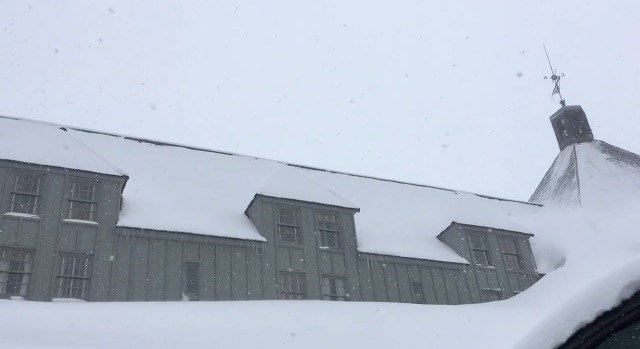 The snow at Timberline Lodge on Monday. (KPTV)