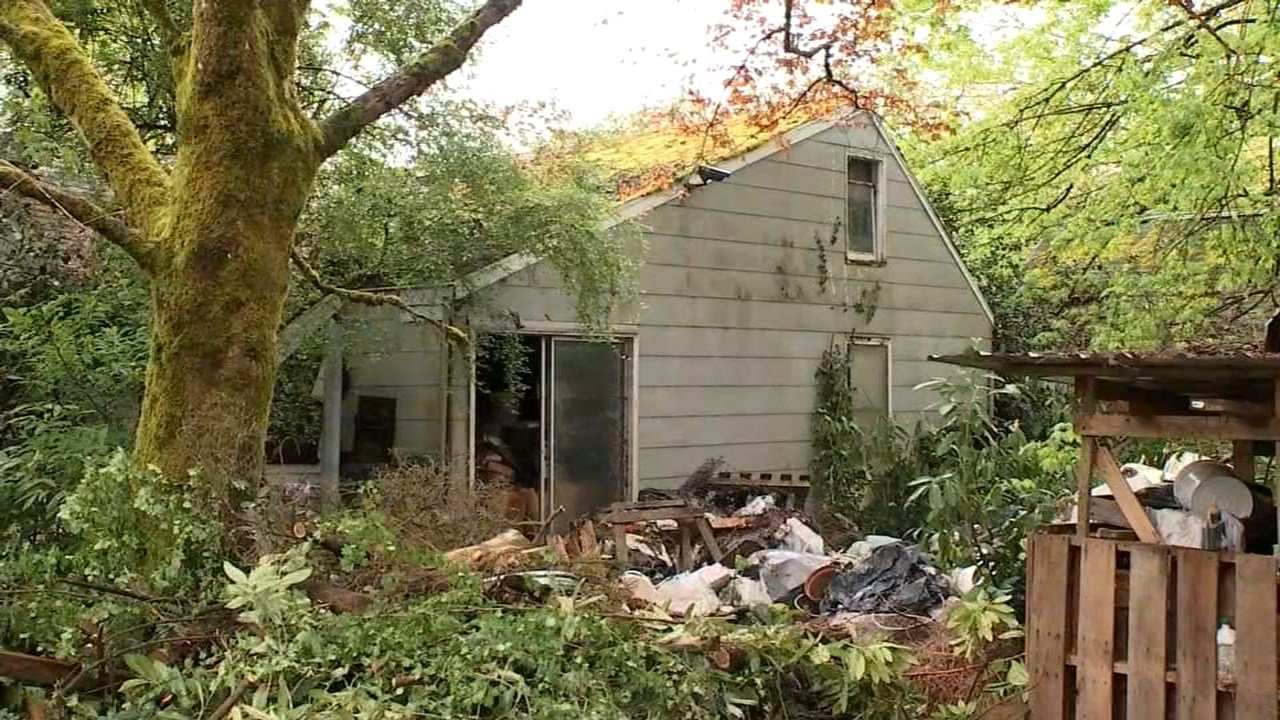 A contractor says he saw a boa constrictor slither away from a knocked-over terrarium in this house being demolished on Jean Road in Lake Oswego, putting neighbors on edge. (KPTV)