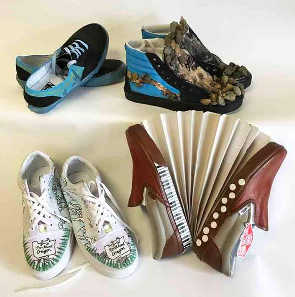 Newberg High School's entries in Vans Custom Culture shoe design competition. (Photo: Vans)