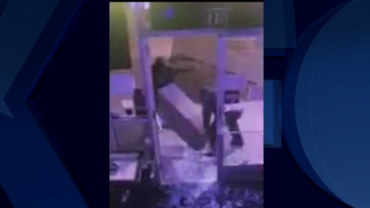 Surveillance image of ATM theft at Sadie Mae's in southeast Portland. (KPTV)