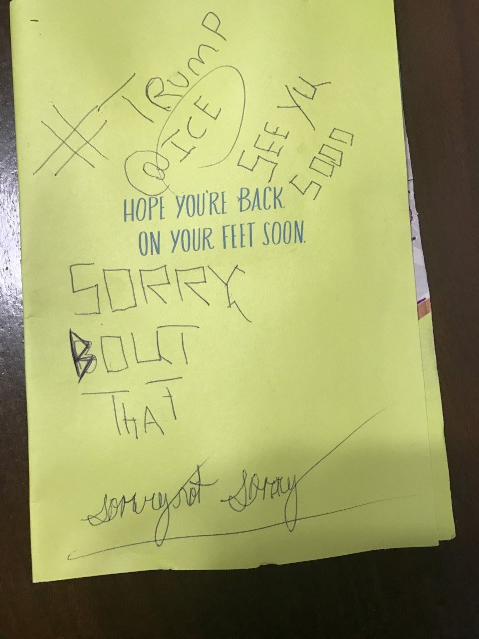 "A note left inside a vehicle after the windows were broken out threatened that ""ICE"" would see the Hispanic family soon. (KPTV)"