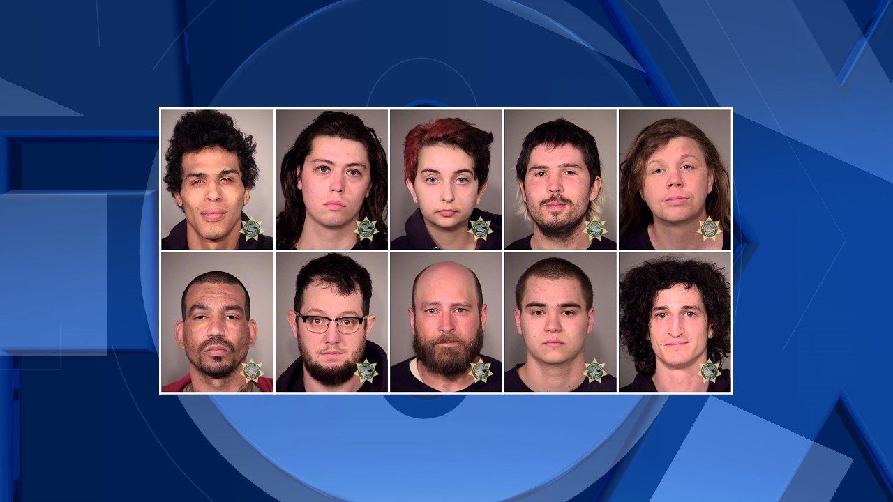Mug shots of rioters arrested during Monday's May Day event in downtown Portland. (Courtesy: Portland Police Bureau)