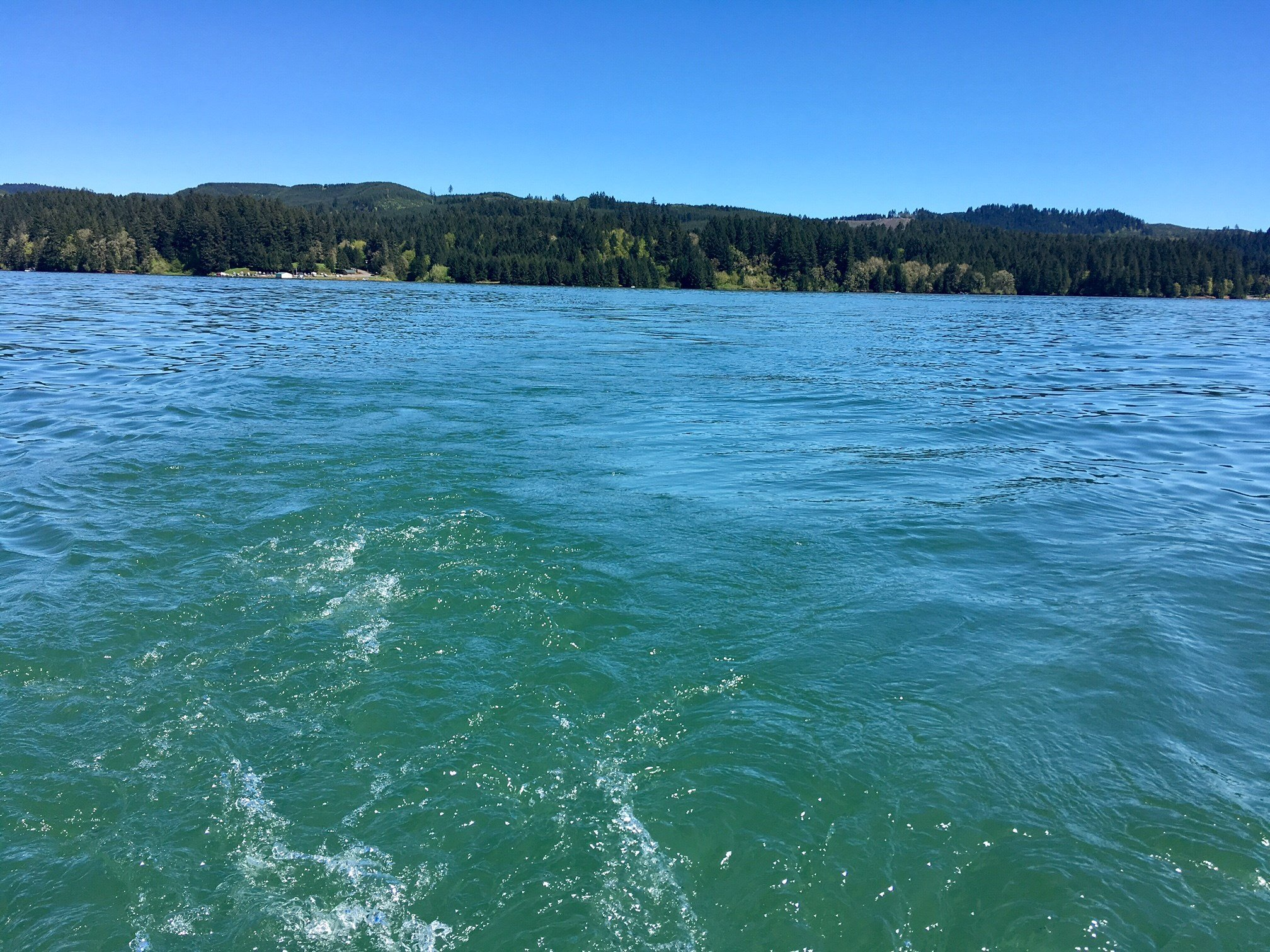 Hagg Lake on Wednesday afternoon. (KPTV)