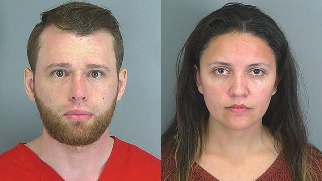 Theodore Khleborod and Ana Barrero booking photos (Spartanburg Co. Detention)