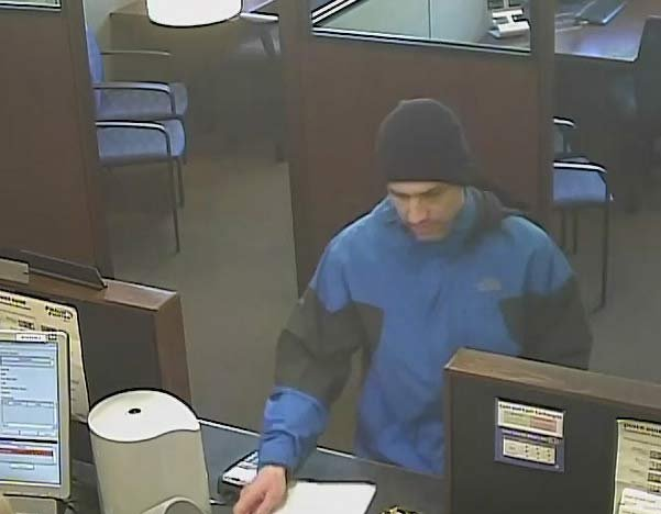 Surveillance image of Raleigh Hills bank robbery suspect. (Washington County Sheriff's Office)