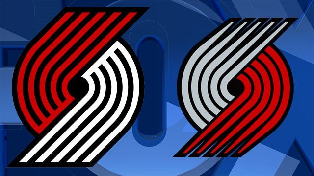 The new Portland Trail Blazers logo, seen on the left, is the first update to the design since 2002 and will be featured on new uniforms coming later this year.