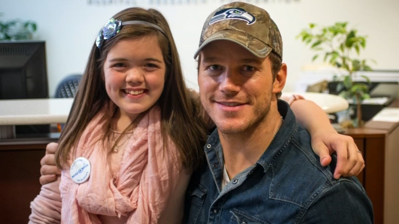 Seattle teen Makenna Schwab and movie star and Washington native Chris Pratt are teaming up to benefit Seattle Children's Hospital. (courtesy KCPQ/Q13 FOX)