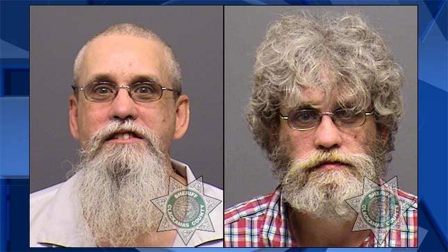Anthony Gordon Brown, 2017 jail booking photo on left, 2015 jail booking photo on right.