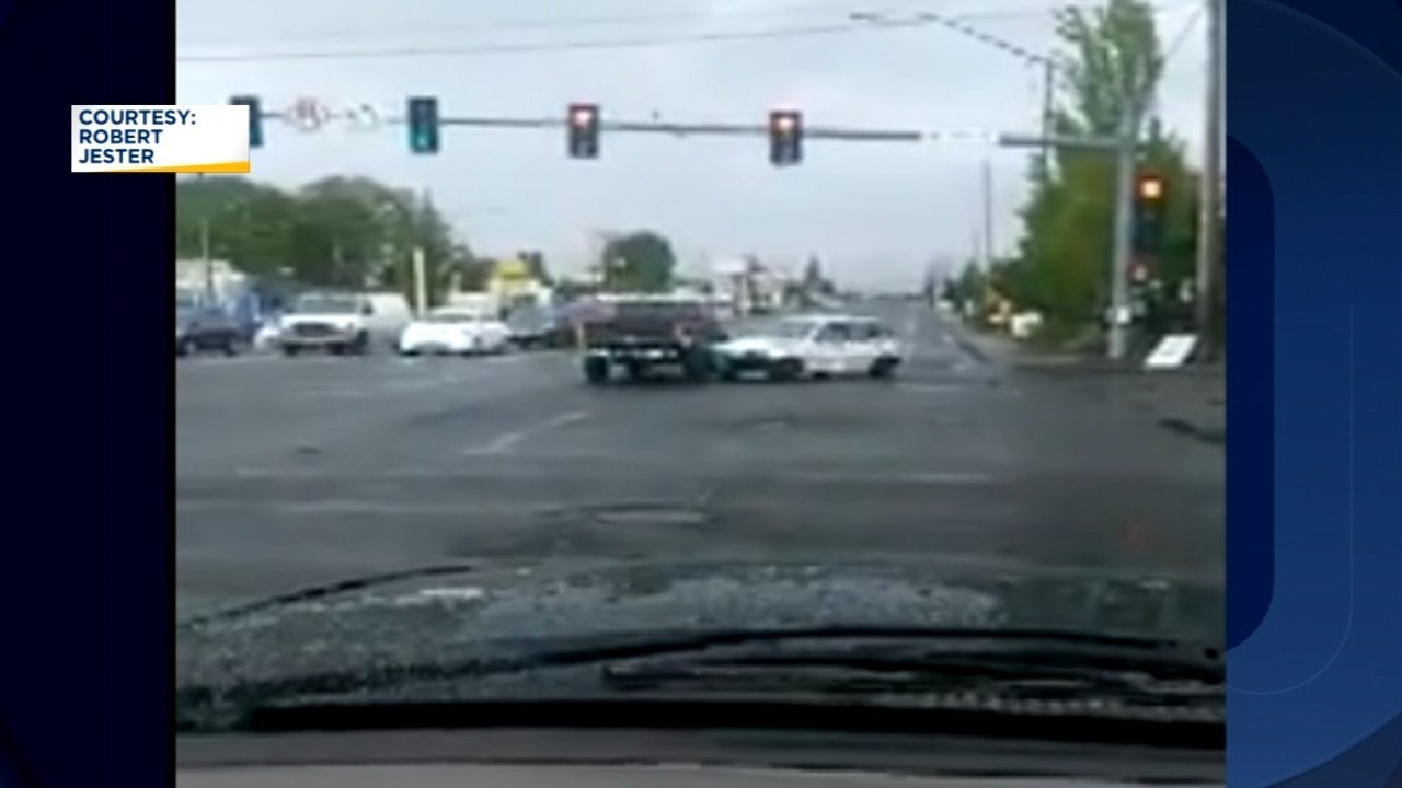 Part of the road rage incident was caught on camera by a witness. (Image: Robert Jester)
