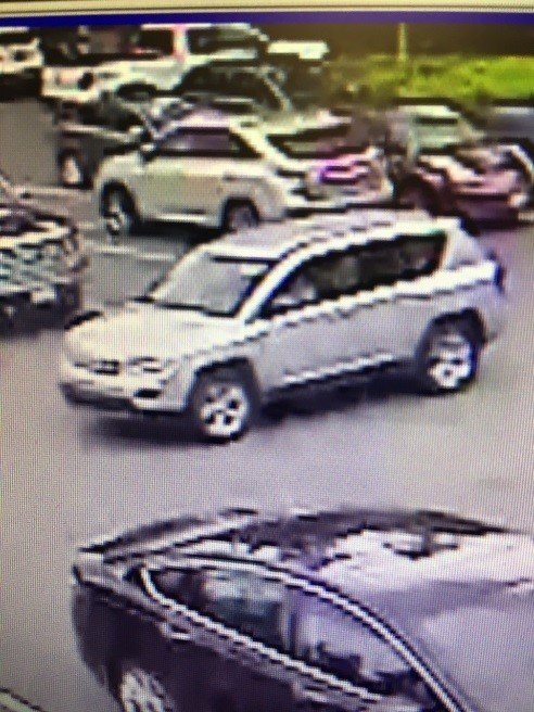 Investigators say the suspect's accomplice is driving this 2014 silver Toyota RAV-4. (Beaverton Police Department)