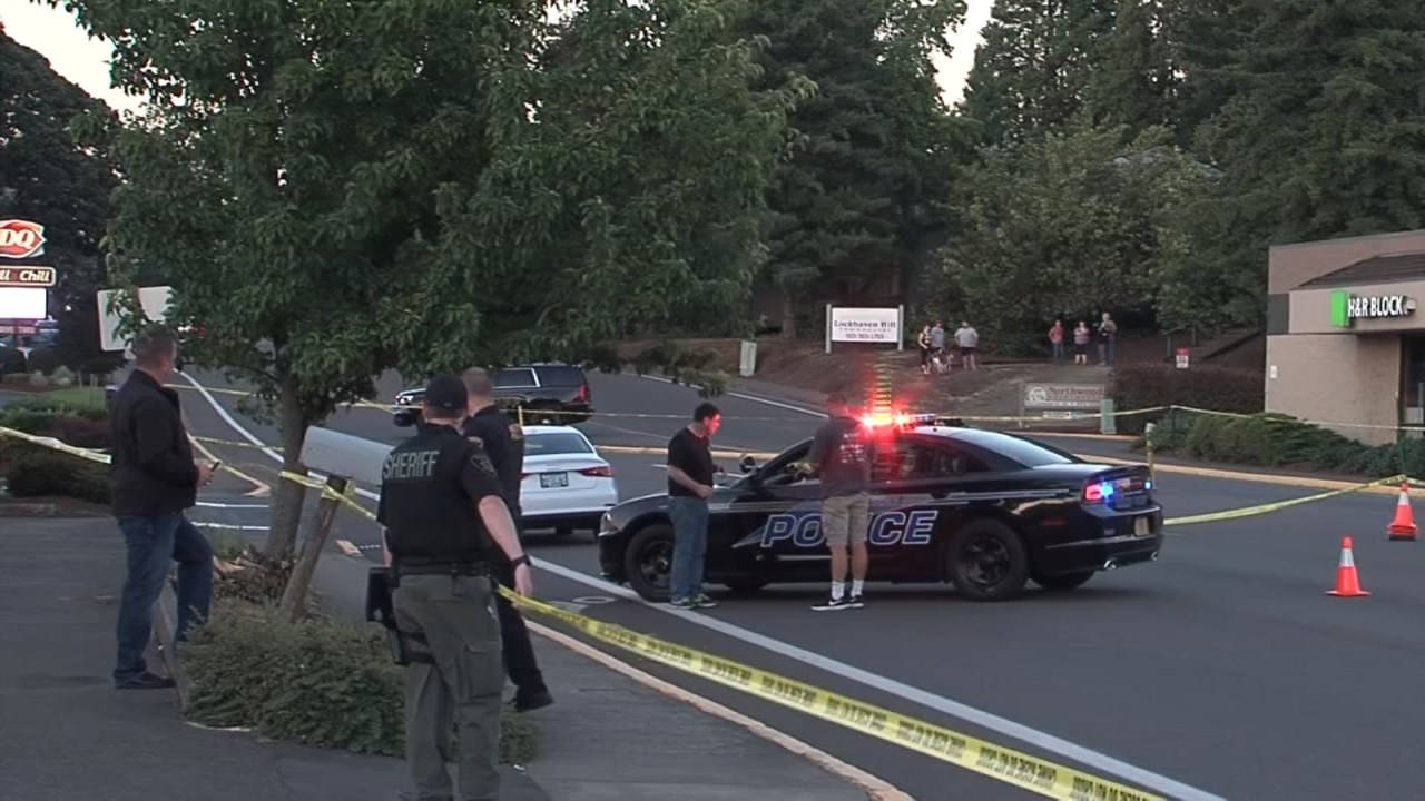 Officer-involved shooting scene in Keizer in June 2016 (KPTV file image)