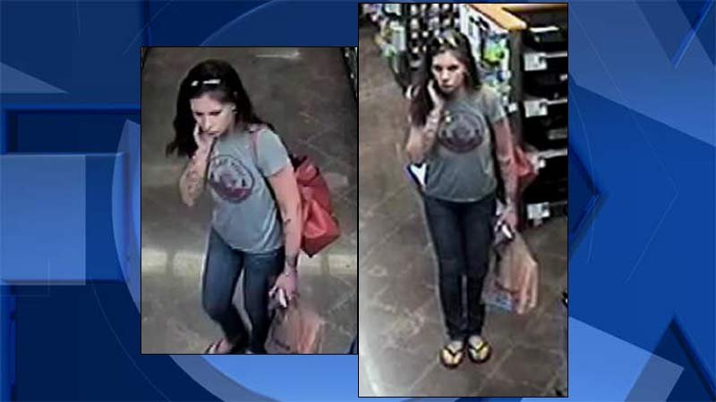 Surveillance images of theft suspect released by Tualatin police.