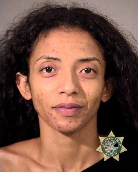 Amal Shariff booking photo (Multnomah Co. Jail)